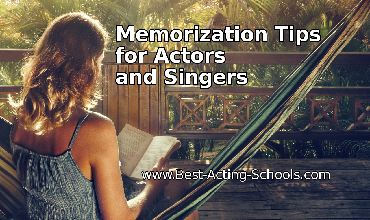 Memorization tips for actors and singers
